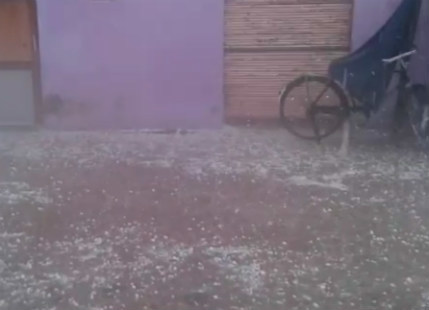 Golf ball sized hail hits parts of Punjab, UP and MP