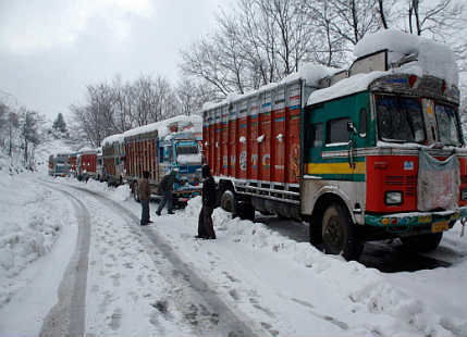 Snow in Jammu and Kashmir