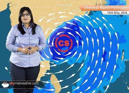 Chennai Rains Forecast May 19: Chennai rains to reduce as Cyclone Roanu moves away