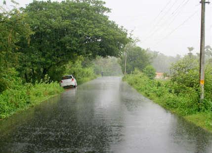 Monsoon rain in Kerala