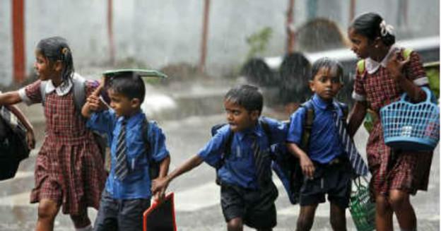Rain in Andhra Pradesh kids
