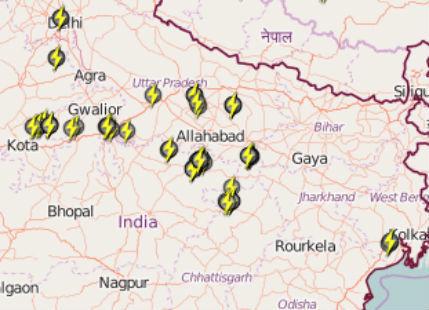 Lightning in UP, Bihar