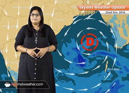 Weather Forecast for Oct 22: Depression in Bay to give rain in Tamil Nadu and Kerala