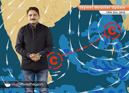 Weather Forecast for Oct 19: Rain in Andaman and Nicobar; light in Tamil Nadu and Kerala