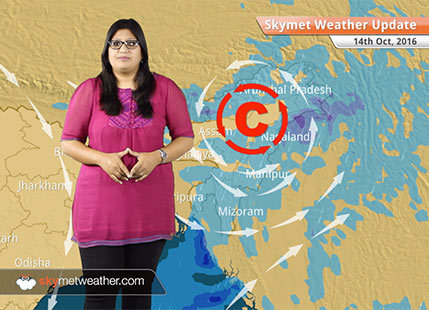 Weather Forecast for Oct 14: Rain in Chennai, Tamil Nadu, Karnataka, Kerala, Northeast