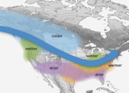 La Nina 2016 arrives, to mildly affect US Winter