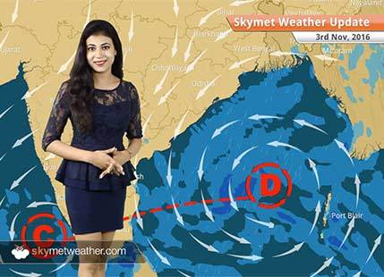 Weather Forecast for Nov 3: Depression to bring rains over Chennai and Kolkata