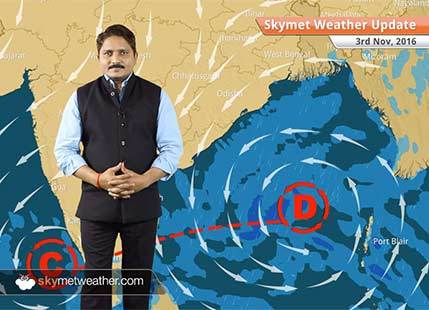 Weather Forecast for Nov 3: Depression in Bay to give good rains in East Coast