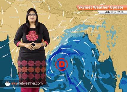 Weather Forecast for Nov 4: Depression in Bay to give rain in Andhra, Odisha, Kolkata, smog in Delhi