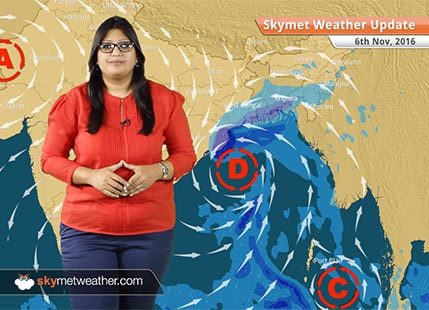 Weather Forecast for Nov 6: Depression in Bay to give rain in Odisha, Kolkata, Northeast, smog in Delhi