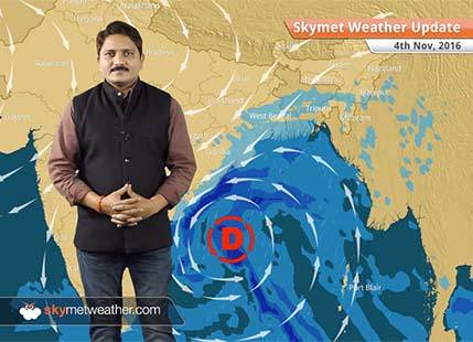 Weather Forecast for Nov 4: Smog in Delhi continues, depression in Bay to give rain in AP, Odisha, Kolkata
