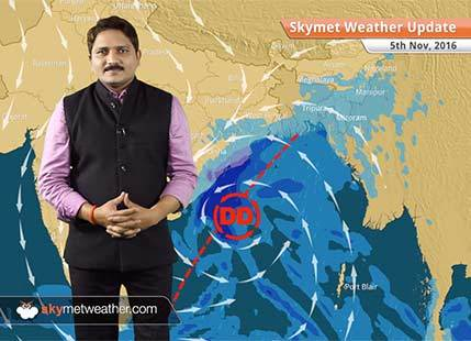 Weather Forecast for Nov 5: Deep depression in Bay to give heavy rain in Odisha