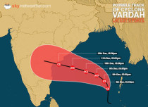 Season's third cyclonic storm Vardah forms in the Bay of Bengal