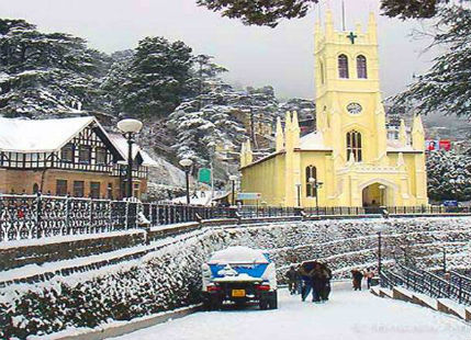 Northern hills of India witness first snow of the season