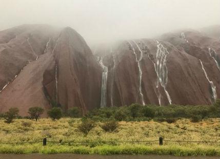 Rains and floods shut down Uluru National Park in Australia