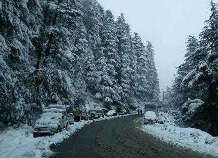 Another fresh spell of Snowfall expected over Shimla Manali Srinagar Nainital