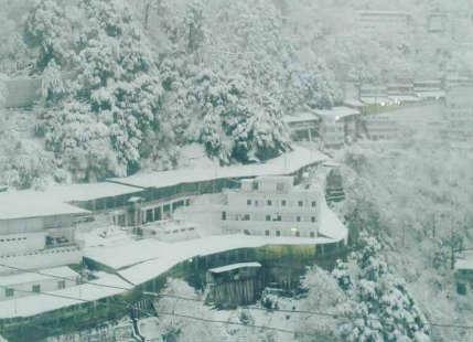 IN PICS: Snowfall in Vaishno Devi, a delight for pilgrims