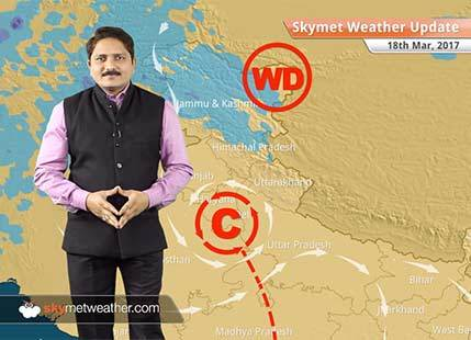 Weather Forecast for March 18: Rain in Northeast & South India; Dust-storm in Northwest plains
