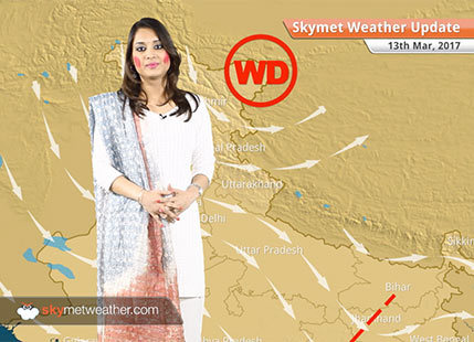 Weather Forecast for March 13: Dry weather in Northwest India, pre-Monsoon rain in TN, Kerala