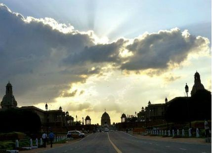 Cloudy weather in Delhi