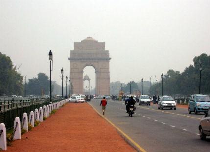 Delhi gradual increase in temperature_