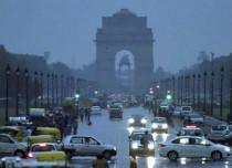 Delhi-rains and dust storm