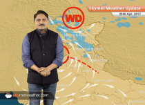 Weather Forecast for April 25: Dust storm in Rajasthan, rain in Jammu and Kashmir