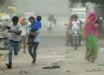 Delhi rain and dust storms