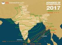 Monsoon 2017 advances further, Kerala next