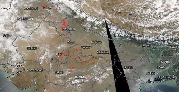 Crop fire in Haryana_NASA 600