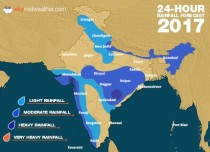 Southwest Monsoon forecast for June 27 across India
