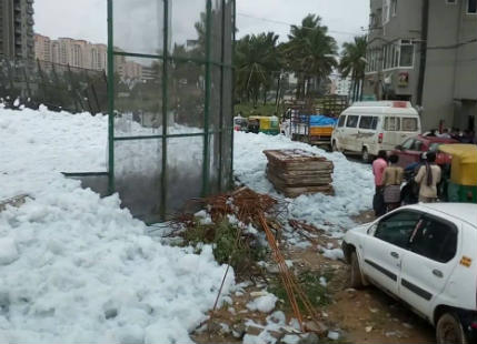 Chemical snow fall in Bengaluru feature