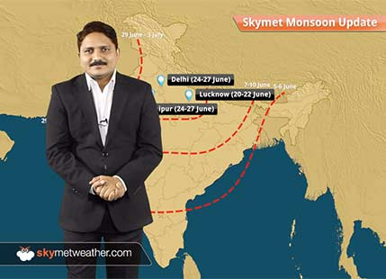 Onset dates of Southwest Monsoon 2017 in different cities of India