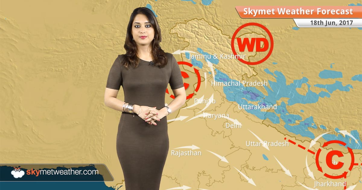Skymet Weather Map Weather Forecast for Jun 18: Subdued Monsoon rains in Mumbai; Rain  Skymet Weather Map