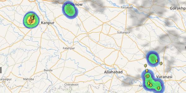 Lightning in Lucknow