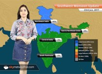 Monsoon Forecast for Jun 24, 2017: Monsoon rains to continue over Mumbai, and parts of West Coast