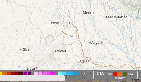 lightning in delhi