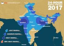 Southwest Monsoon forecast for July 25 across India