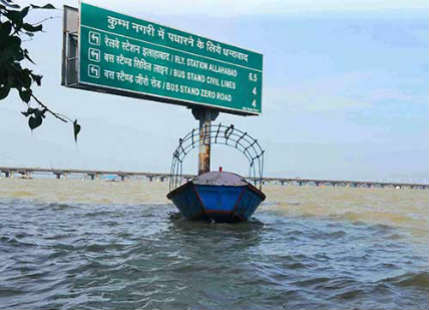 Allahabad flood in Ganga