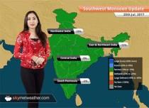 Monsoon Forecast for Jul 21, 2017: Heavy Monsoon rains in Kolkata, Mumbai, Rajasthan, Gujarat, UP