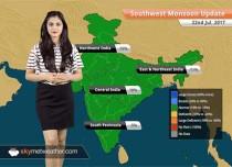 Monsoon Forecast for Jul 23, 2017: HeavyMonsoon rains in Mumbai, Gujarat, Rajasthan
