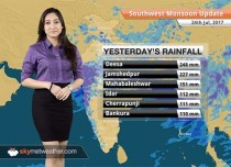 Monsoon Forecast for Jul 25, 2017: Heavy rains in Gujarat, Rajasthan, West Bengal