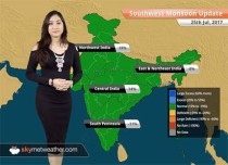 Monsoon Forecast for Jul 26, 2017: Heavy Monsoon rains in Gujarat, Rajasthan, WB; Rains in Delhi, Kolkata, Mumbai