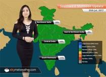 Monsoon Forecast for Jul 26, 2017: Heavy Monsoon rains in Gujarat, Rajasthan, WB; Rains in Delhi, Kolkata, Mumbai