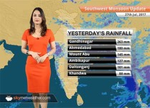 Monsoon Forecast for Jul 28, 2017: Heavy rain in South Rajasthan, West MP, flood hit Gujarat