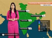 Monsoon Forecast for Jul 29, 2017: Heavy rain in Ahmedabad, Udaipur, Indore, Mount Abu