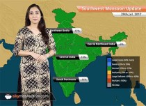 Monsoon Forecast for Jul 30, 2017: Light rains in Delhi, Punjab, Gujarat, Rajasthan; Heavy in Uttarakhand