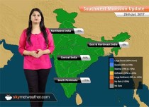 Monsoon Forecast for Jul 26, 2017: Heavy rains in Rajasthan, Gujarat, UP; Good rains in Delhi, Haryana