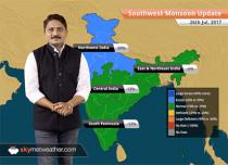 Monsoon Forecast for Jul 27, 2017: Heavy rains likely in Jharkhand and Chhattisgarh