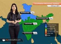 Monsoon Forecast for Jul 28, 2017: Rain in Gujarat, Rajasthan, Uttar Pradesh, Madhya Pradesh